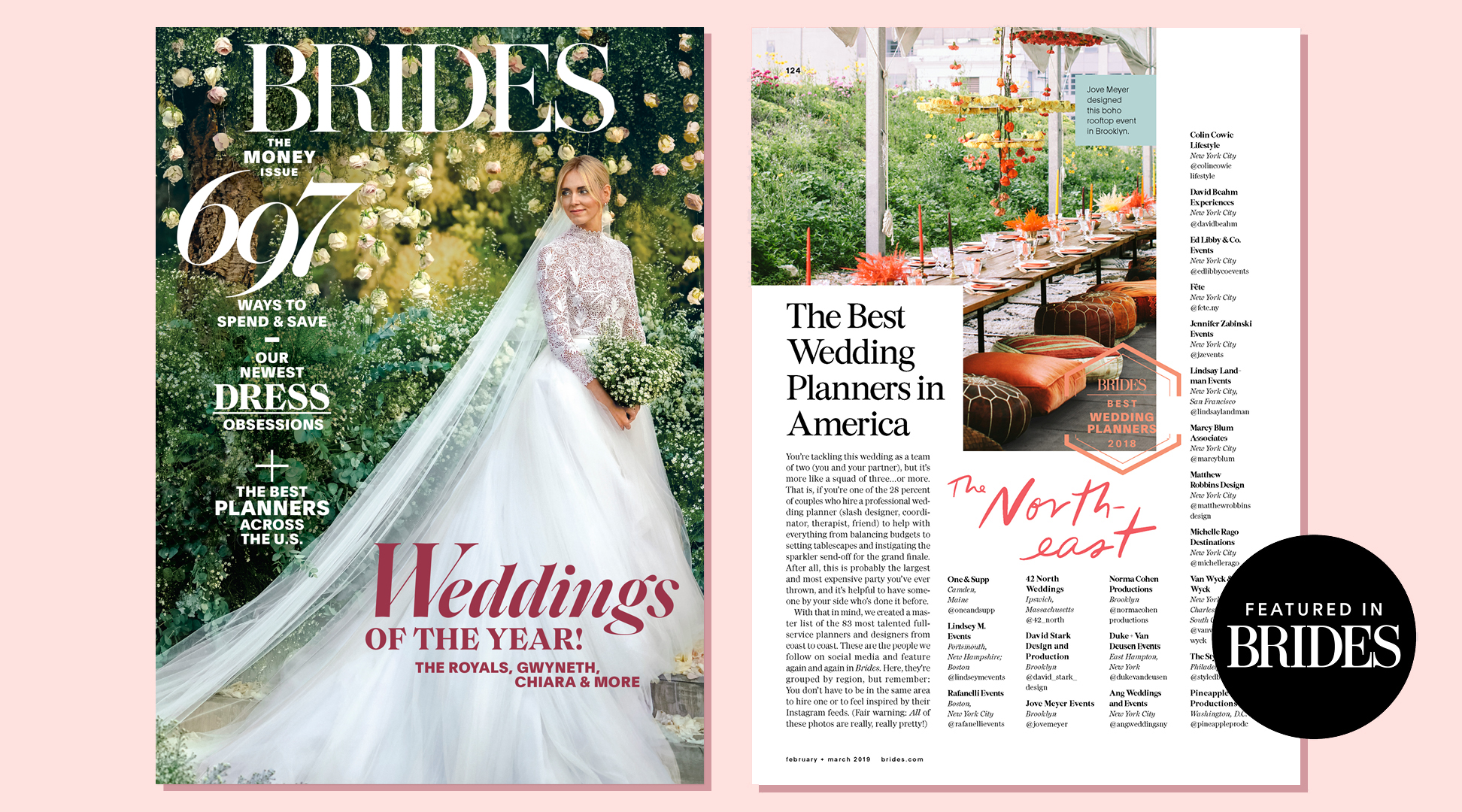 Jennifer Zabinski Wedding As Seen In Bride Magazine - Best Wedding Planner in America